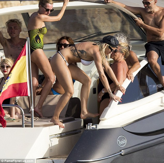 Firm friends: Nick and Rita have both hit Ibiza at the same time for Radio 1's Ibiza Weekend celebrations