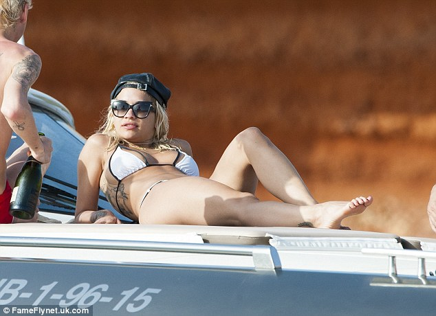 Letting her hair down: The singer is enjoying a few days off after a busy few weeks filming for The X Factor