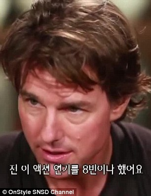 The many faces of Tom Cruise: The star was clearly having a great time during his latest promo interview