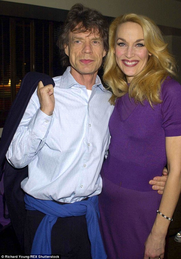 Taste of his own medicine:Jerry has revealed she embarked on an affair of her own with Sangster in order to give the Rolling Stones star a taste of his own medicine