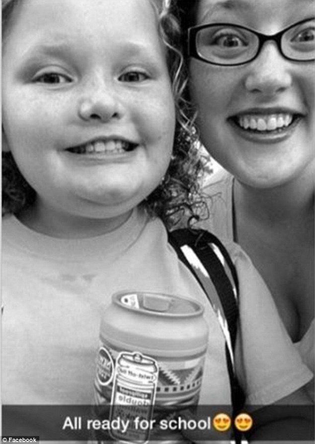 Teacher, here they come! 'Proud parent' Mama June shared photos of the nine-year-old (left) and 15-year-old (right) on Facebook