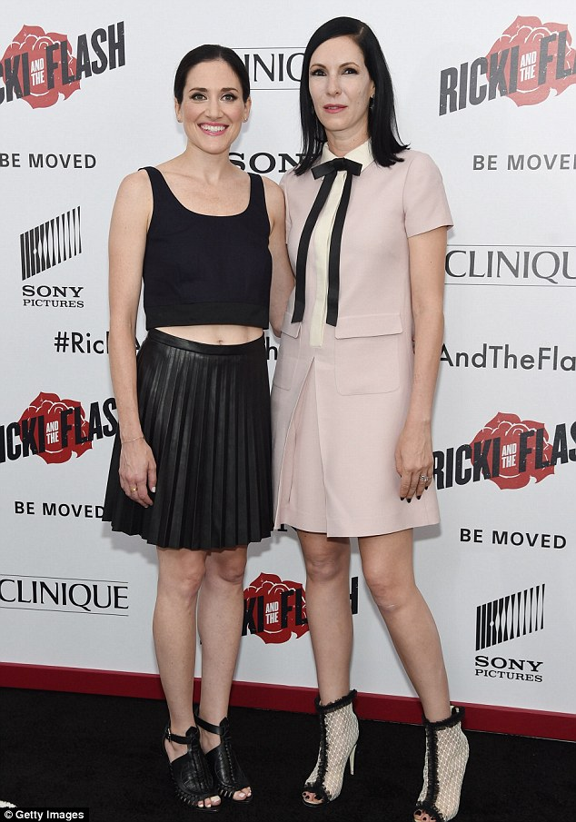 Bravo girls: K.K. Glick and Jill Kargman of Odd Mom Out coordinated in thigh-skimming looks