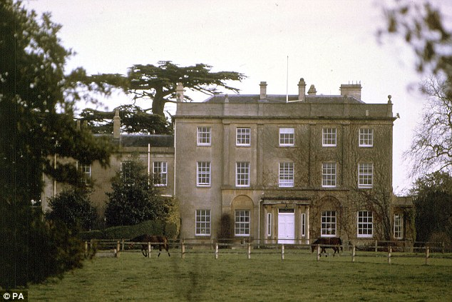 Stately:Prince of Wales' Georgian mansion, Highgrove, in Gloucestershire, where he enjoys traditional farming