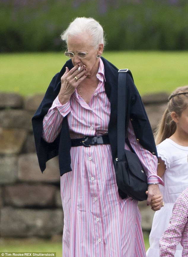 Habit: The Queen is a longtime smoker and has defied ongoing criticism for smoking publicly