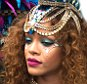 Rihanna sizzles in a costume during kadooment day in Barbados   Pictured: Rihanna Ref: SPL1094151  030815   Picture by: Charlie Pitt/246paps/Splash News  Splash News and Pictures Los Angeles: 310-821-2666 New York: 212-619-2666 London: 870-934-2666 photodesk@splashnews.com