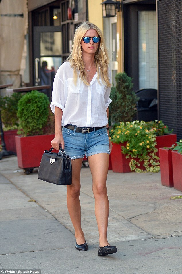 A look with legs! Nicky Hilton cut a casual yet chic figure as she flaunted her perfect pins while out and about in New York on Monday, a few weeks after her wedding with James Rothschild