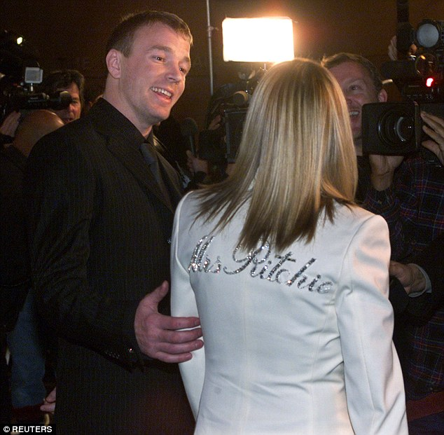 A sly dig? Jacqui's post harked back to 2001 when Guy's wife Madonna sported a white blazer with the name Mrs Ritchie in crystals, just two months after they had tied the knot