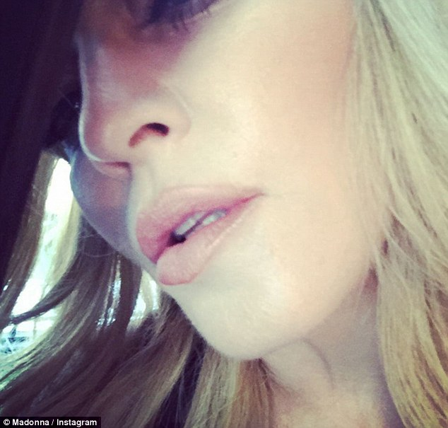 Close-up! The 56-year-old star looked alluring in another of her selfies, posted in the wake of her ex's lavish nuptials to his new bride Jacqui Ainsley
