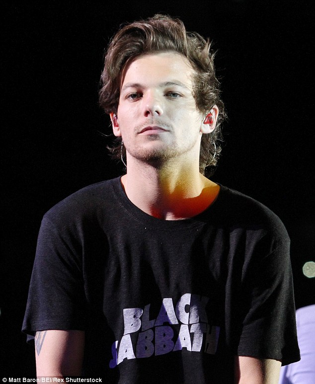 Think again: Louis also denied rumours that new track Drag Me Down is a dig at former band member, Zayn Malik