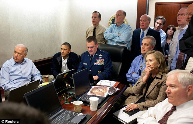 In the Situation Room: President Obama watched the bin Laden raid with Vice President Biden and his closest advisers