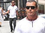 EXCLUSIVE: Gavin Rossdale with a friend takes his dog out shopping in Beverly Hills, CA.  Pictured: Gavin Rossdale  Ref: SPL1094219  030815   EXCLUSIVE Picture by: Splashnews  Splash News and Pictures Los Angeles: 310-821-2666 New York: 212-619-2666 London: 870-934-2666 photodesk@splashnews.com