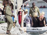 IBIZA, SPAIN - AUGUST 03: Seal is seen taking a boat on August 3, 2015 in Ibiza, Spain. (Photo by Iconic/GC Images)