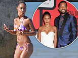 EXCLUSIVE:**PREMIUM RATES APPLY** A bikini clad Jada Pinkett Smith stays fit by working out on the beach while in Hawaii on July 29  Pictured: Jada Pinkett Smith Ref: SPL1089746  030815   EXCLUSIVE Picture by: Splash News  Splash News and Pictures Los Angeles:310-821-2666 New York:212-619-2666 London:870-934-2666 photodesk@splashnews.com