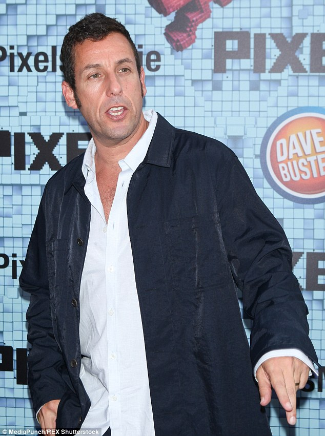 Comedian: Adam Sandler earned $41 million despite a string of flops at the box office. Above, the comedy star promotes new film Pixels in New York last month