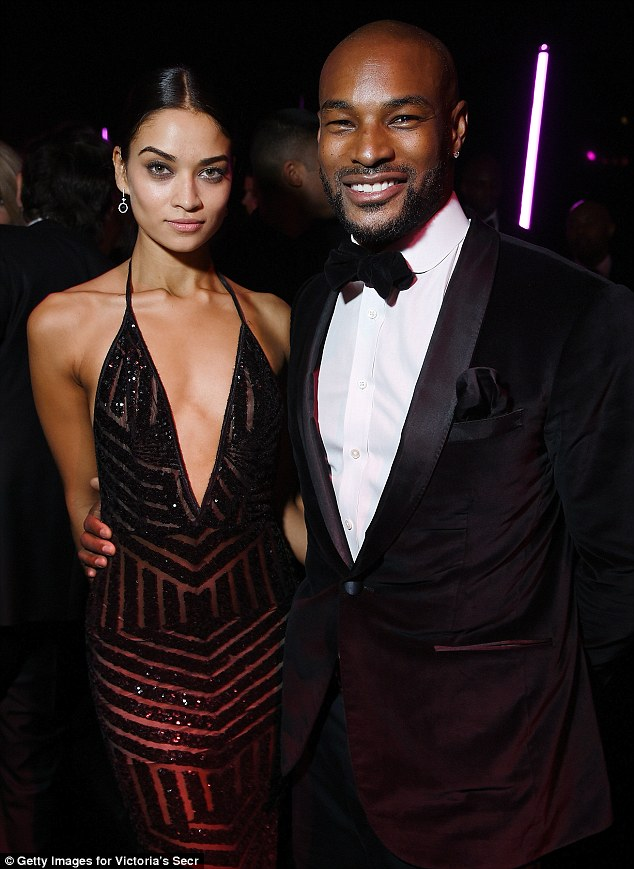 Former flame: Melbourne born Shanina dated model Tyson Beckford on and off for four years
