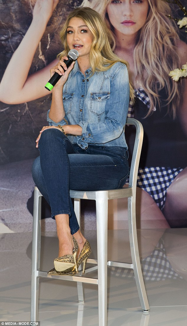 Promotional trail:Gigi is in Australia to launch the Guess Spring 2015 collection