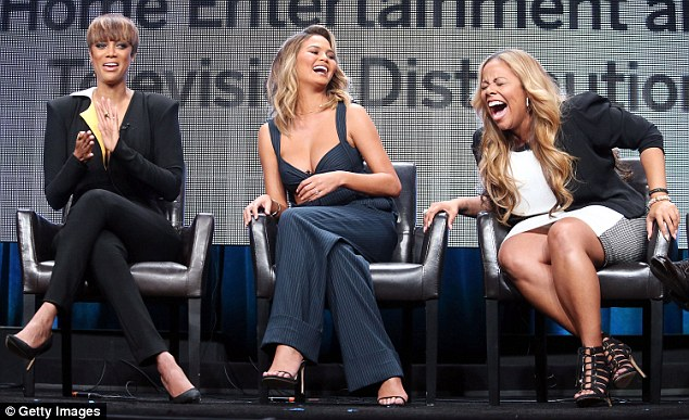 Giggles: Their other co-host, Lauren Makk also couldn't stop laughing