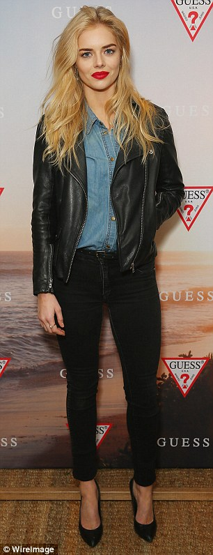 Bucking a trend: Samara Weaving stood out by virtue of her decision to wear jeans