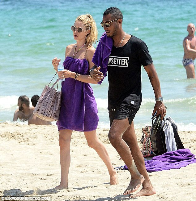Family time: The model and her children have been on the island with her husband DJ Sunnery James