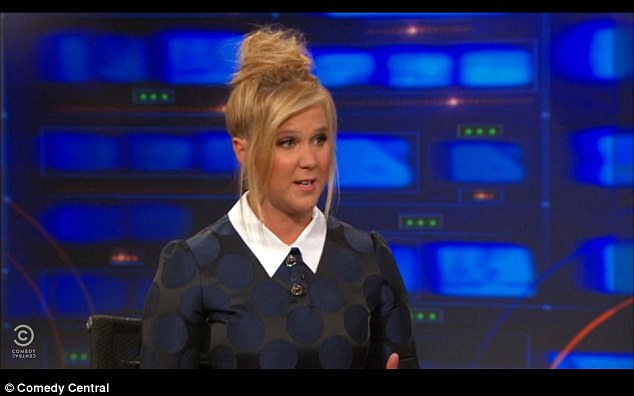 Appearance: The comedy actress was speaking to Jon Stewart on The Daily Show