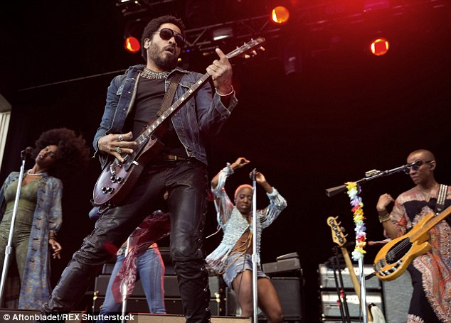 Rocking out: Lenny is currently in the midst of his Strut World Tour