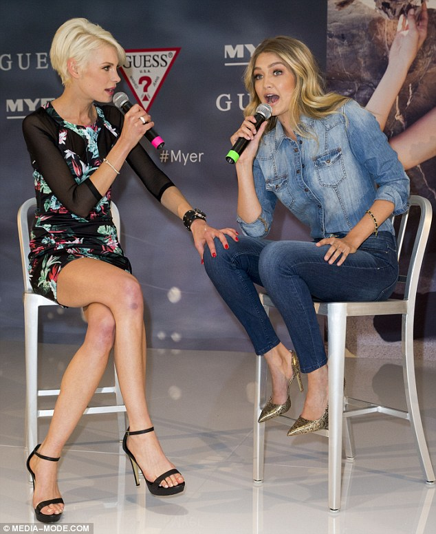 Onstage chatter: She even participated in a question and answer session alongside Kate