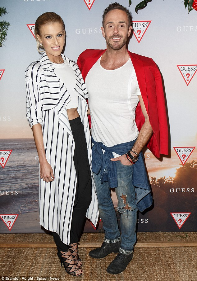 Me and my man: Erin Holland was joined by stylish Donny Galella