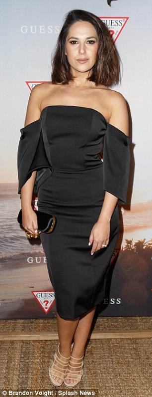 ... as opposed to the fitted black dresses favoured by guests including Zoe Marshall