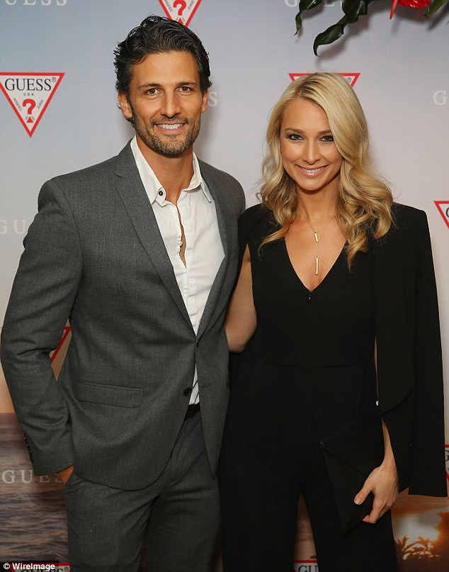 Handsome couple: Hunky Tim Robards met girlfriend Anna Heinrich during their appearance on popular reality show The Bachelor