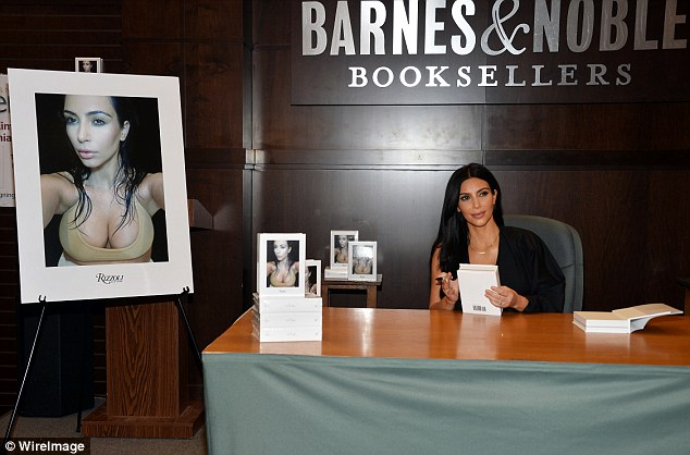 Finding her niche: Kim's book is doing well in the 'celebrity photography' category on Amazon