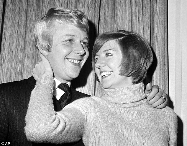 Eternal love: Cilla pictured with her sweetheart and future husband Bobby Willis before their marriage in 1969. Bobby was the love of Cilla's life, and she was heartbroken when he died in 1999