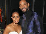 """NEWARK, NJ - MARCH 28:  Jada Pinkett-Smith (L) and Will Smith pose backstage at """"Black Girls Rock!"""" BET Special at NJPAC  Prudential Hall on March 28, 2015 in Newark, New Jersey.  (Photo by Bennett Raglin/BET/Getty Images for BET)"""