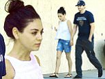 EXCLUSIVE: ** PREMIUM RATES APPLY ** Mila Kunis and Ashton Kutcher walked hand in hand after exiting a Studio City spa after getting a couples massage. The newlyweds seemed to be in good spirits and relaxed after their massage and stopped next door for some ice cream before heading to their car. After massages and ice cream, the couple headed to the Tuning Fork restaurant nearby for some lunch. Ashton got a gourmet burger and fries, while Mila settled for a salad and some fruit. While out, Mila was seen wearing her new wedding ring and Ashton didn't seem to have his on.\n\nPictured: Mila Kunis, Ashton Kutcher\nRef: SPL1092373  030815   EXCLUSIVE\nPicture by: Sharpshooter Images / Splash \n\nSplash News and Pictures\nLos Angeles: 310-821-2666\nNew York: 212-619-2666\nLondon: 870-934-2666\nphotodesk@splashnews.com\n