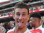 LONDON, ENGLAND - AUGUST 02: Arsenal's Laurent Koscielny celebrate after the FA Community Shield match between Chelsea and Arsenal at Wembley Stadium on August 2, 2015 in London, England. (Photo by Stuart MacFarlane/Arsenal FC via Getty Images)