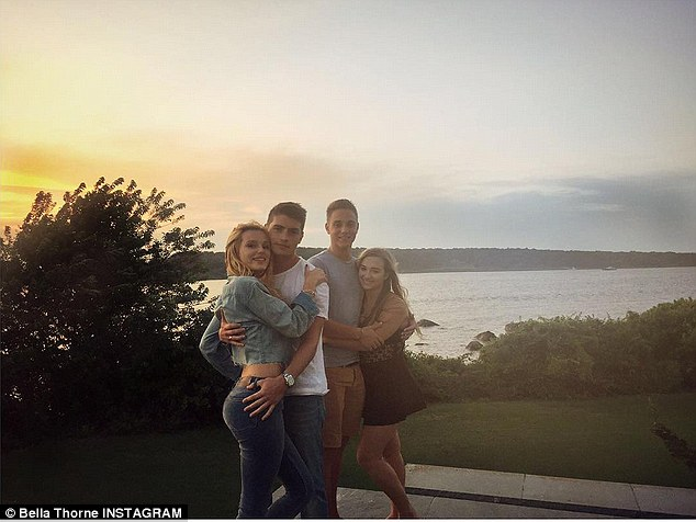 Back to reality: On Monday Bella took to Instagram to share a snap from the end of her Rhode Island vacation, writing: 'And that's all folks'
