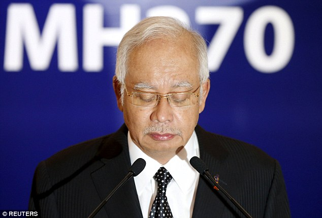 The confirmation was made in a press conference by Malaysian Prime Minister Najib Razak who said he was delivering the news with a 'heavy heart'