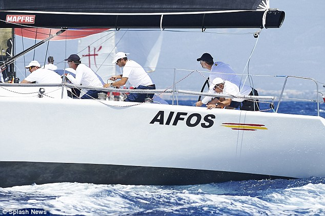 The yacht race was Felipe's first official engagement of the summer - he will remain in Mallorca throughout