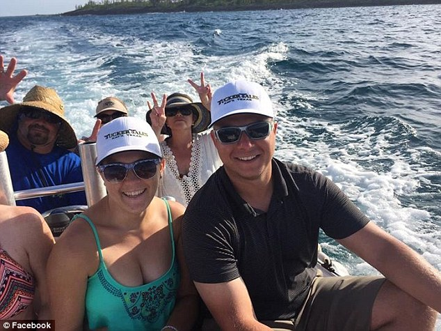 Expat: Hart (right) arrived in Marsh Harbor, Bahamas, this summer to join Daniel Tucker on his sport fishing yacht, the Tucker Tales