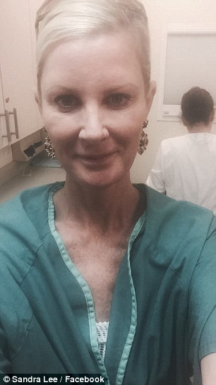 Good days and bad days: Lee has struggled to recover from the double mastectomy, but appears to be keeping a good spirit according to her Facebook posts