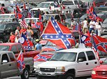 Pro-Confederate flag supporters gather for a rally at Stone Mountain Park on Saturday, Aug. 1, 2015, in Stone Mountain, Ga.  (Curtis Compton/Atlanta Journal-Constitution via AP)  MARIETTA DAILY OUT; GWINNETT DAILY POST OUT; LOCAL TELEVISION OUT; WXIA-TV OUT; WGCL-TV OUT; MANDATORY CREDIT
