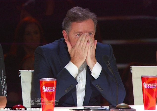 Back in the hot seat: Piers Morgan made a return to the America's Got Talent judging panel on Tuesday night