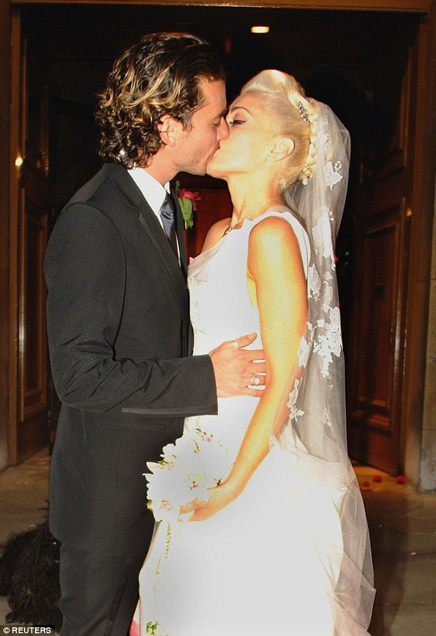The pair finally tied the knot in 2002, with a ceremony at London's St Paul's and then in Los Angeles two weeks later