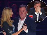 """4 August 2015 - Los Angeles - USA  **** STRICTLY NOT AVAILABLE FOR USA ***  Piers Morgan returns to American's Got Talent as a guest judge - and ends up defending Mel B's honour! THe British star was sat between Mel B and Heidi Klum for the 'Judges Cut' show on AGT. And he ended up losing his cool with act Kayvon Zand, 28, from New York after the singer told Mel B she was: 'No Whitney Houston."""" Zand was annoyed after all the judges pressed their buzzer - and started arguing with them. But he took offence when former Spice Girl Mel told him his voice was not technically ready and he cut her off and asked: """"Do you think you�re a better singer than me?? The crowd booed as Morgan stepped in and told him he was a brat and that he should show Mel some respect. Zand then tried to retract his nasty comments, but only dug himself in a deeper whole by saying,:?She�s not like a Whitney Houston but she�s a good singer.? Also on the show Morgan got up and danced with Klum after boasting he was the"""