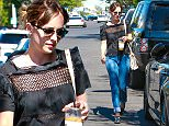 West Hollywood, CA - Dakota Johnson stops to pick up a new outfit from Chloe, women's clothing store in West Hollywood. The actress was joined by a girlfriend and a unknown male friend as she returned to her car following some shopping on trendy Melrose Place.\nAKM-GSI    August  4, 2015\nTo License These Photos, Please Contact :\nSteve Ginsburg\n(310) 505-8447\n(323) 423-9397\nsteve@akmgsi.com\nsales@akmgsi.com\nor\nMaria Buda\n(917) 242-1505\nmbuda@akmgsi.com\nginsburgspalyinc@gmail.com