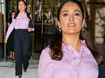 Salma Hayek spotted leaving an office building in Brooklyn, NY\n\nPictured: Salma Hayek\nRef: SPL1094016  040815  \nPicture by: Felipe Ramales / Splash News\n\nSplash News and Pictures\nLos Angeles: 310-821-2666\nNew York: 212-619-2666\nLondon: 870-934-2666\nphotodesk@splashnews.com\n