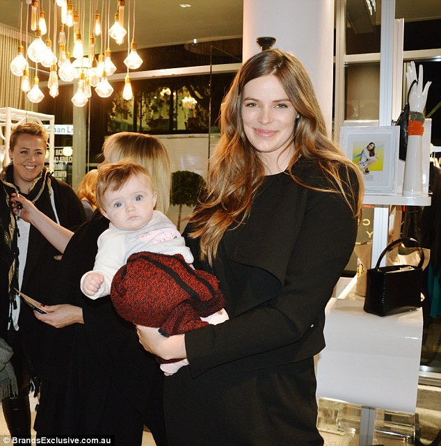 A pair of babes! Sports Illustrated model Robyn gave birth to Ripley in February, pictured at a recent Brands Exclusive fashion event at a Napoleon Perdis' Life.Style store in Sydney's Double Bay