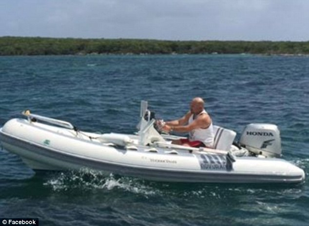 Missing evidence: Hart was last seen Tuesday going out in this inflatable dingy on his way to a restaurant for lunch and cocktails. The boat has not been found