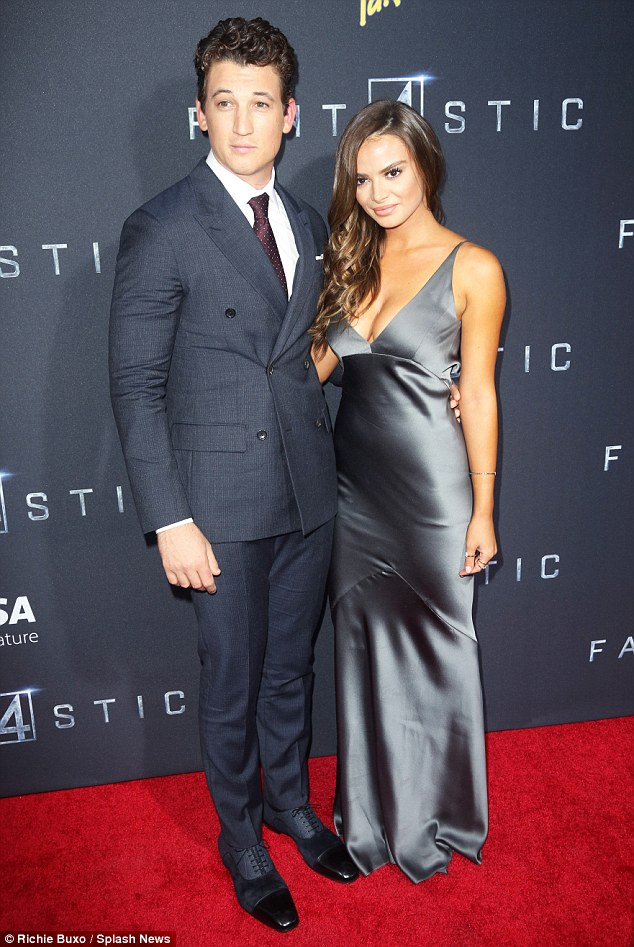 Mr. Fantastic, indeed! Miles Teller looked dapper as he joined stunning girlfriend Keleigh Sperry on the red carpet ahead of the New York City premiere of his film Fantastic Four on Tuesday