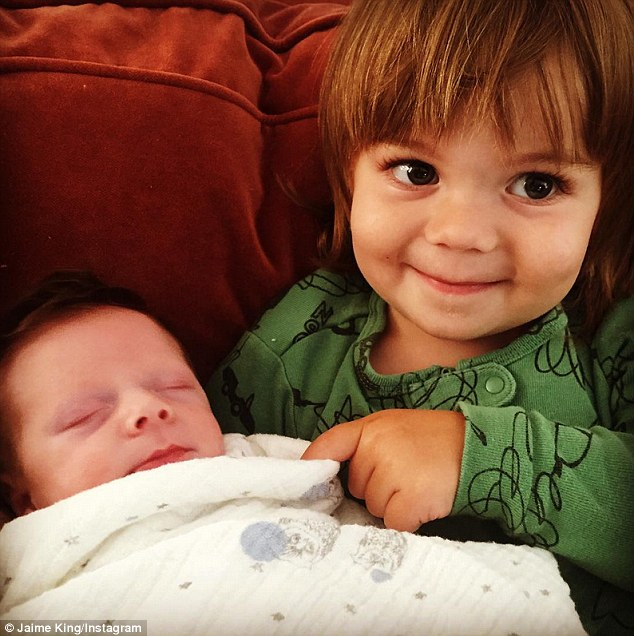 So cute! Jaime's first born, James, took a liking to his new younger brother in a recent Instagram snap