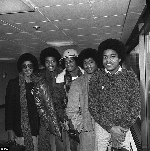 Celebrity home: Father Joe bought the house in 1971 at the height of the Jackson 5's success. Pictured from left to right are Marlon, Jackie, Michael, Randy and Tito
